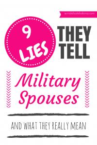 Lies-Military Spouse