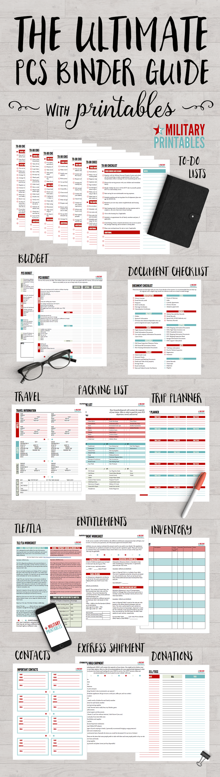 military moves  the ultimate pcs binder guide with free printables