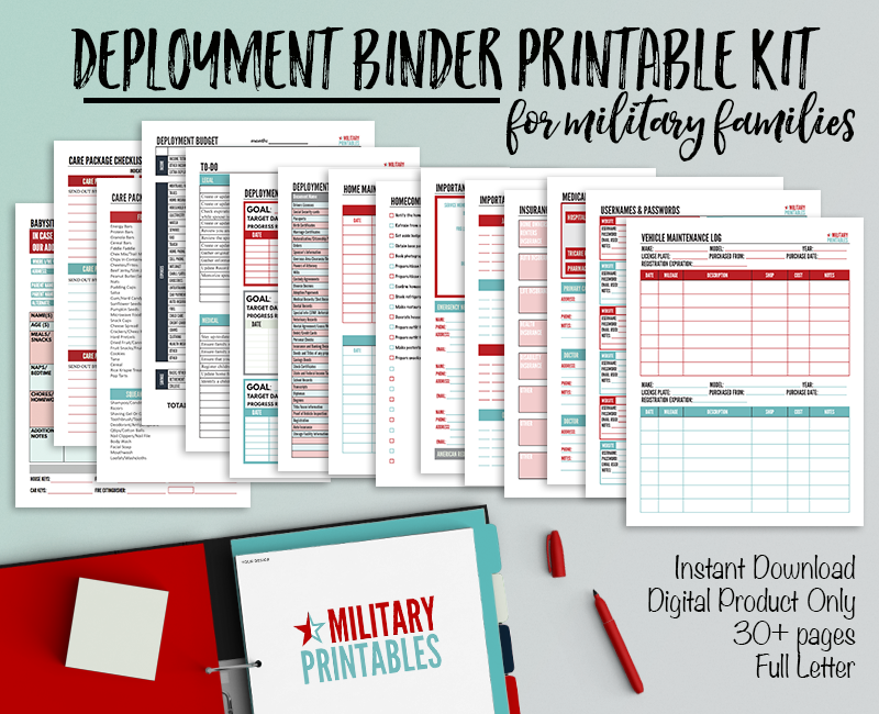 Create A Deployment Binder Printable Checklists For
