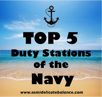 Top 5 Duty Stations of the Navy