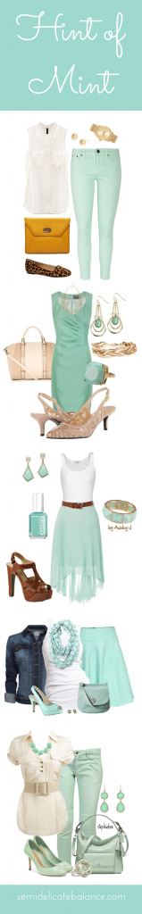 Hint of Mint Outfits
