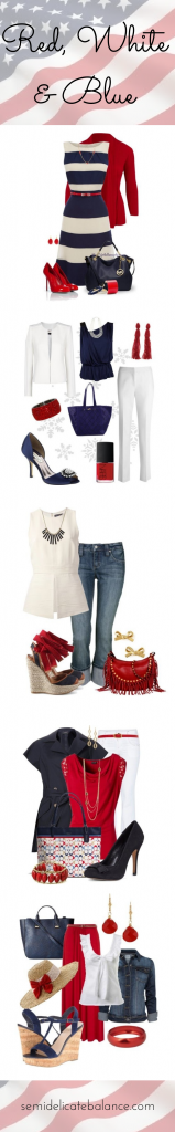 Red, White & Blue Outfits for Military Homecoming