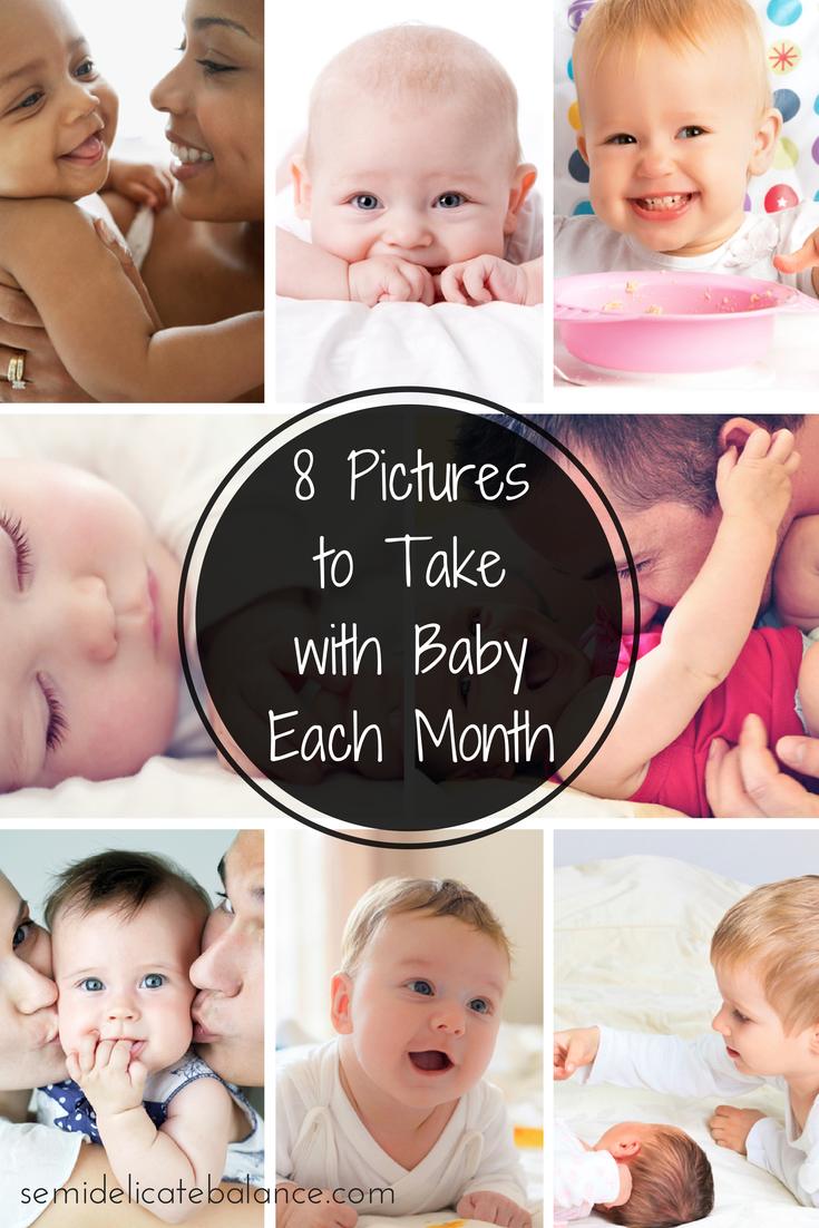 8 pictures to take with baby each month png