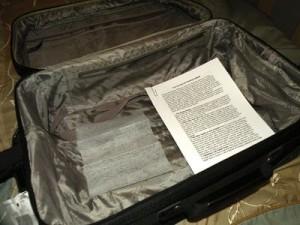 dryer sheet, luggage
