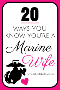 know you're a marine wife