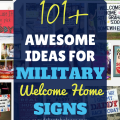 Military welcome home signs ideas