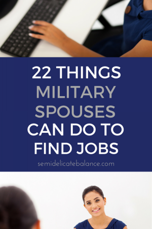 Military Spouses Can Do to Find Jobs