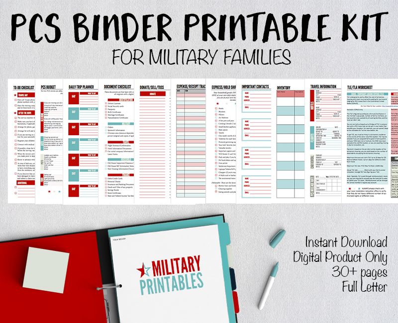 PCS Binder Printables