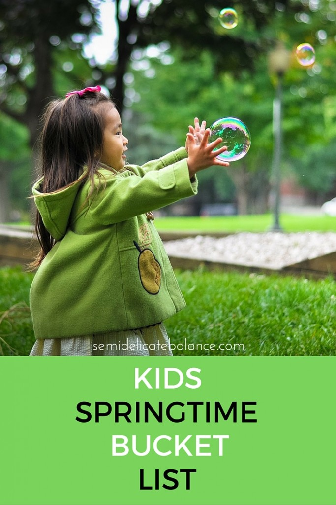 kids springtime bucket list