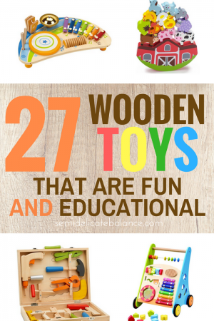 #parenting #toys Wooden Toys That Are Fun AND Educational, Great simple ideas for Babies, toddlers, kids, for new toys with a vintage feel