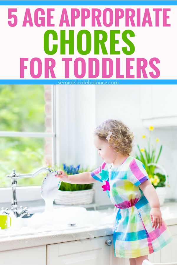 5 Age Appropriate Chores Even your Toddler Can Do #toddler #parenting #momlife #chores