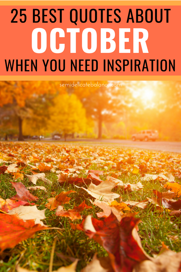 October Quotes 25 Best October Quotes When You Need Some Inspiration October Quotes