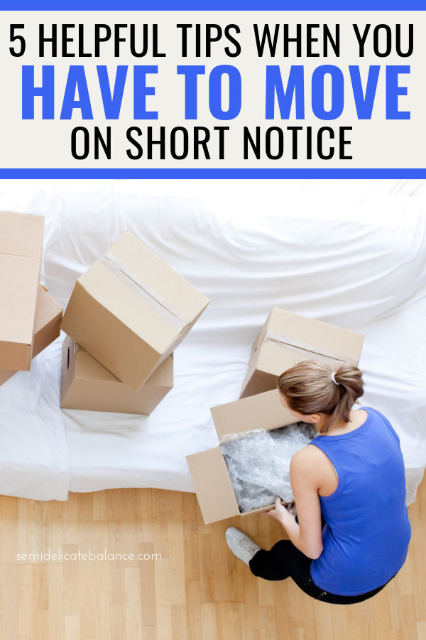5 Helpful Tips When You Have To Move On Short Notice #military #militaryfamily #pcs #moving