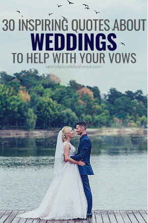 Inspiring Wedding Quotes And Sayings To Help With Your Vows #wedding #weddingquotes #weddingcaptions #weddingvows #weddinganniversary #weddingplanning #vowrenewal