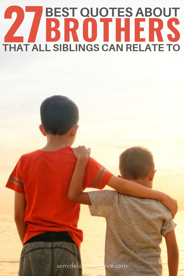 25 Best Quotes About Brothers To Say I Love My Brother