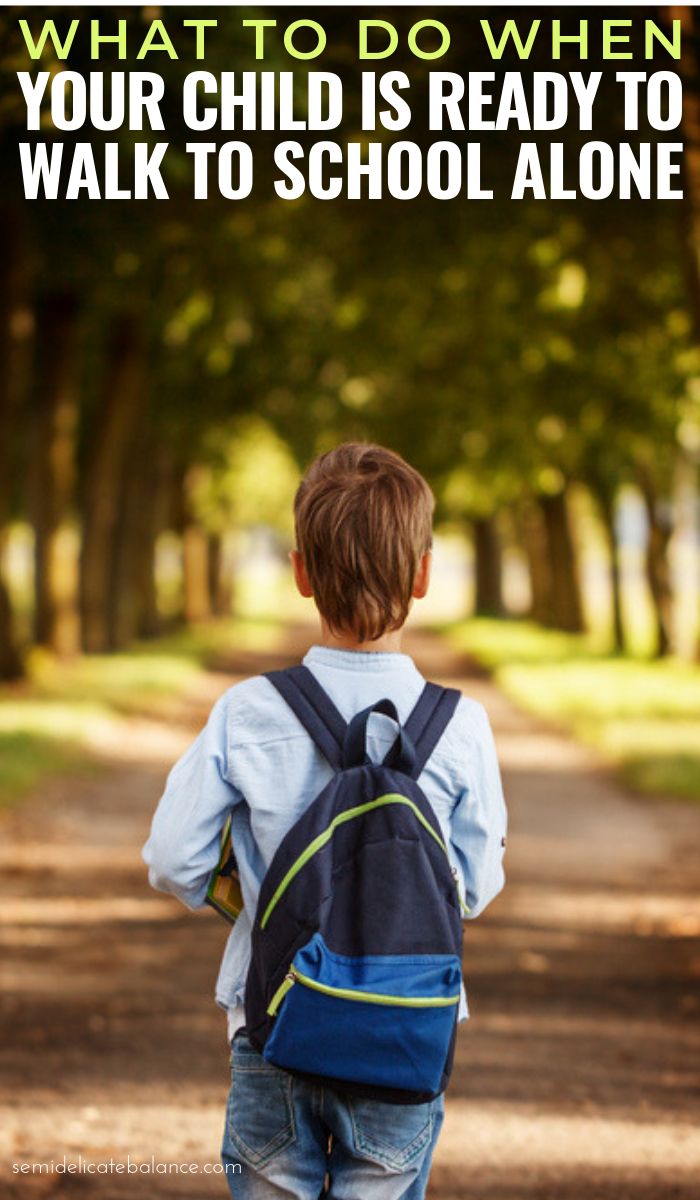 7 Helpful Tips For When Your Child Is Ready To Walk To School Alone #parenting #motherhood #momlife #raisingkids #mommy #schoolagekids